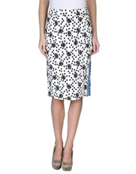 Emanuel Ungaro Knee Length Skirts White