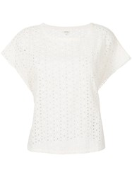 Bellerose Perforated T Shirt White