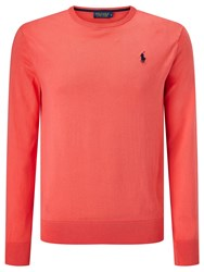 Polo Ralph Lauren Golf By Long Sleeve Crew Neck Sweater Pink Glow