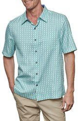 Nat Nast Men's Florida Silk Blend Camp Shirt Green