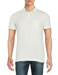 Selected Cotton Pocket Polo Egret White