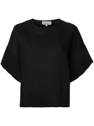 Studio Nicholson Woven Box T Shirt Women Linen Flax Viscose 0 Black