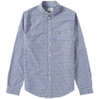 Lacoste Gingham Shirt Blue