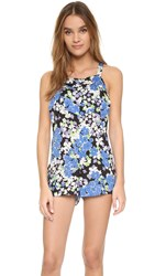 Wildfox Couture Overall Romper Blue Bouquet