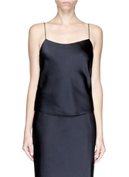 The Row Hammered Satin Camisole Blue
