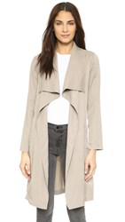 Bb Dakota Braylon Drape Trench Jacket Toffee