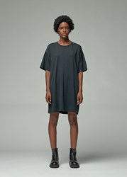 Raquel Allegra 'S Sueded Baby Jersey T Shirt Dress In Black Size 0 100 Cotton