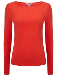 Phase Eight Slash Neck T Shirt Red