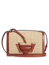 Loewe Barcelona Raffia And Leather Bag Tan