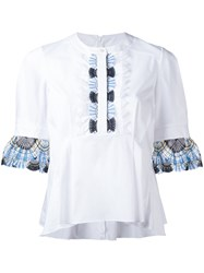 Peter Pilotto Lace Trim Blouse White