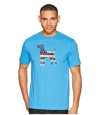 Life Is Good Americana Dog Cool Tee Marina Blue T Shirt