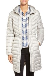 Women's Cole Haan Packable Hooded Down Coat Silver
