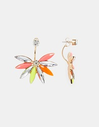 Love Rocks Star Burst Through And Through Earrings Multi