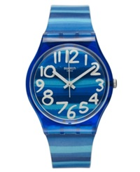 Swatch Watch Unisex Swiss Linajola Multi Color Plastic Strap 34Mm Gn237