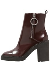 Allsaints Caleb High Heeled Ankle Boots Mogano Brown