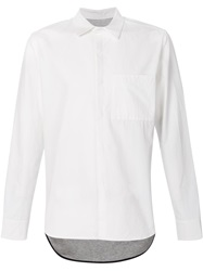 Tim Coppens Contrast Layered Shirt White