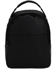 Armani Exchange Embossed Faux Leather Backpack Black