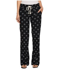 Roxy Oceanside Printed Pants Anthracite Pearly Tiles Women's Casual Pants Black