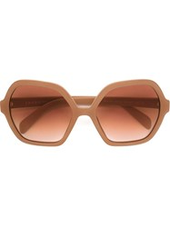 Prada Hexagonal Frame Sunglasses Pink And Purple