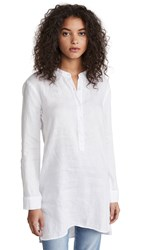 Stateside Linen Button Up Tunic White