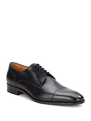 Saks Fifth Avenue Cap Toe Leather Oxfords Black