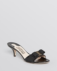 Salvatore Ferragamo Open Toe Dress Sandals Glory Nero