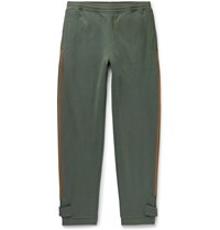 Loewe Eye Nature Fleece Back Cotton Jersey Sweatpants Green