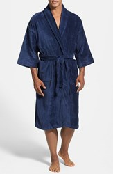 Men's Majestic International Terry Velour Robe Navy