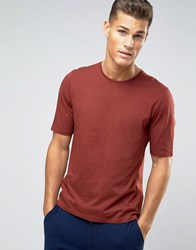 Sisley T Shirt With Back Raglan Detail Red 2D9