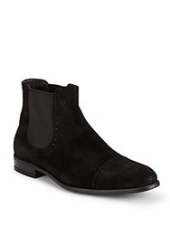 Bruno Magli Saltro Suede High Top Boots Black