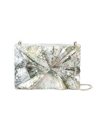 Nathalie Trad Dino Clutch Bag Women Mother Of Pearl Metal One Size Metallic