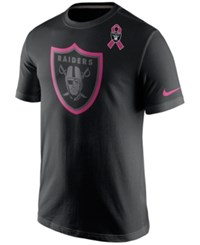 Nike Men's Oakland Raiders Bca Travel Shirt Black Pink