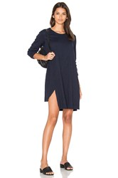 Wilt Long Sleeve Shifted Trapeze Dress Navy
