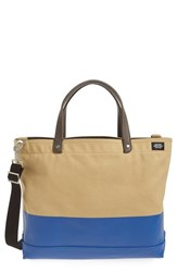 Men's Jack Spade 'Industrial Dipped Coal' Canvas Bag Brown Khaki Blue
