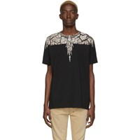 Marcelo Burlon County Of Milan Black And Brown Earth Wings T Shirt