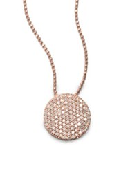 Phillips House 14K Rose Gold And Diamond Infinity Pendant Necklace