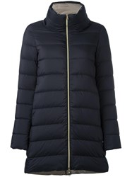 Herno High Neck Zipped Coat Black