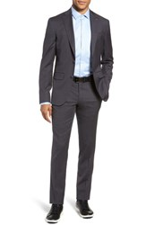 Ted Baker London Rove Extra Trim Fit Solid Wool Suit Grey