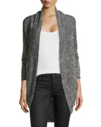 Max Studio Stretch Knit Cocoon Cardigan Black Ivory