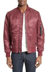 Rag And Bone Men's Manston Bomber Jacket Burgundy