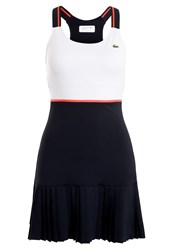 Lacoste Sport Sports Dress White Navy Blue Fluo Energy