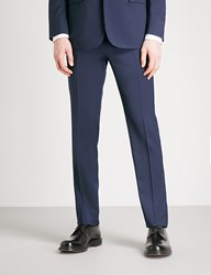 Ralph Lauren Purple Label Anthony Regular Fit Straight Wool Trousers Classic Navy