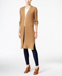 Styleandco. Style Co. Ribbed Duster Cardigan Only At Macy's Salty Nut