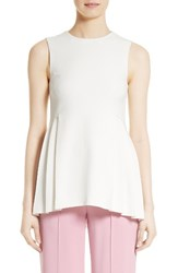 Adam By Adam Lippes Women's Pleated Peplum Tank Ivory
