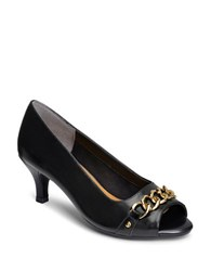 Aerosoles Made Of Honor Leather Pumps Black