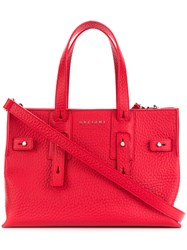 Orciani Top Handle Tote Bag Red