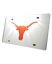Stockdale Texas Longhorns Laser Tag License Plate Silver