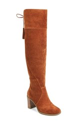 Dr. Scholl's Women's Original Collection Lydia Over The Knee Boot Cognac Suede
