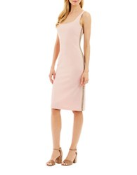 Nicole Miller New York Solid Back Zip Bodycon Dress Blush