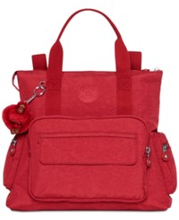 Kipling Alvy Medium Convertible Backpack Tote Candied Red
